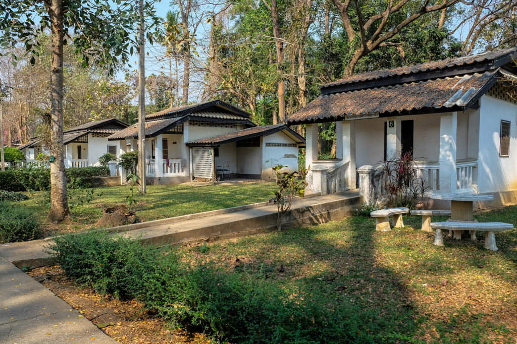 Beautifully shaded cottages where those with leprosy found sanctuary, care and peace